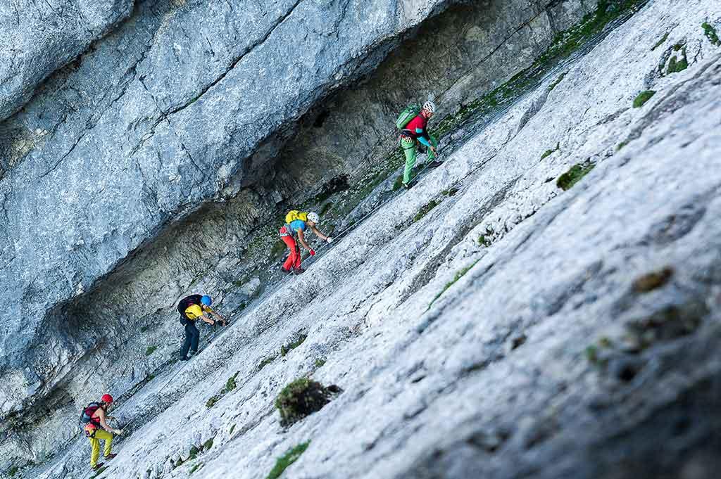 Klettersteig Seewand : Klettersteige lodge krippenstein
